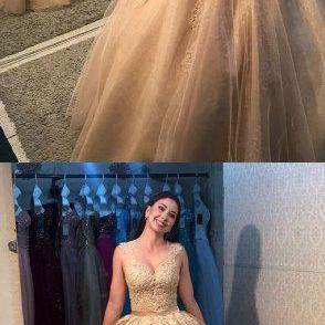 Sexy Appliques Ball Gown Prom Dress..