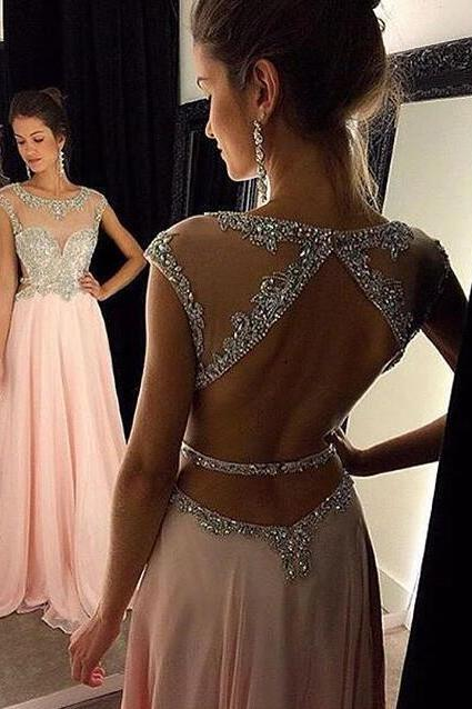 Prom Dresses,Pink Evening Gowns,Simple Formal Dresses,Prom Dresses,Teens Fashion Evening Gown,Beadings Evening Dress,Pink Party Dress