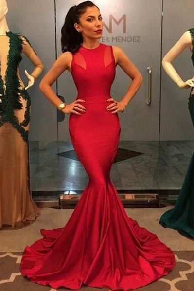 Prom Dresses,Red Prom Dress,Satin Evening Gown,Long Formal Dress,Prom Gowns,Night Club Dresses,Prom Dress