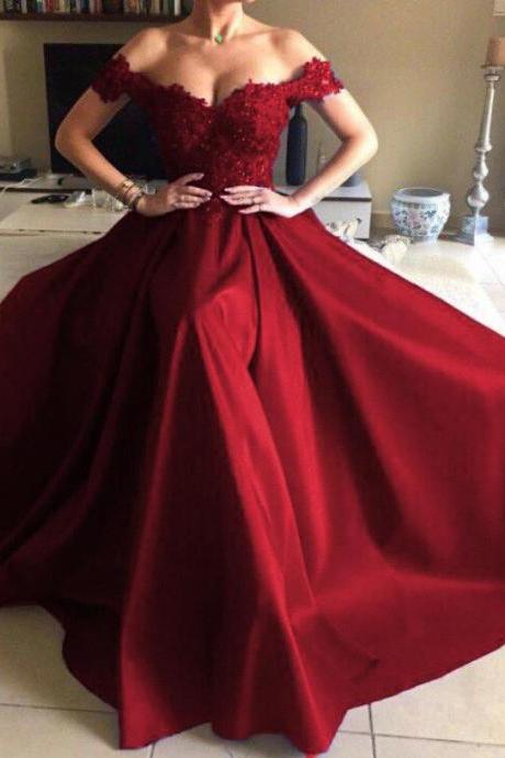 Off the Shoulder Dress, Prom Dress, Evening Dress, Formal Occasion Dress