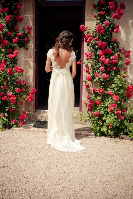 New Arrival Backless Wedding Dresses,Floor-Length Wedding Dresses, Wedding Dress with Sashes,Wedding Dresses, Dresses For Wedding