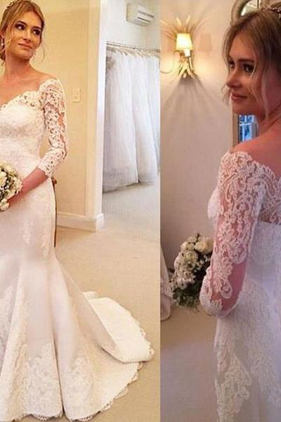 Wedding Dress,Wedding Dresses,Lace Mermaid Wedding Dresses,Long Wedding Dresses,Cheap Wedding Dresses