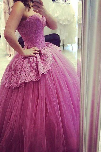 Wedding Dress,Wedding Dresses,Quinceanera Dresses,Sexy Sweetheart Wedding Dresses,Lace Ball Gown Wedding Dresses,Appliques Princess Quinceanera Dresses,Lace Ball Gown Quinceanera Dresses