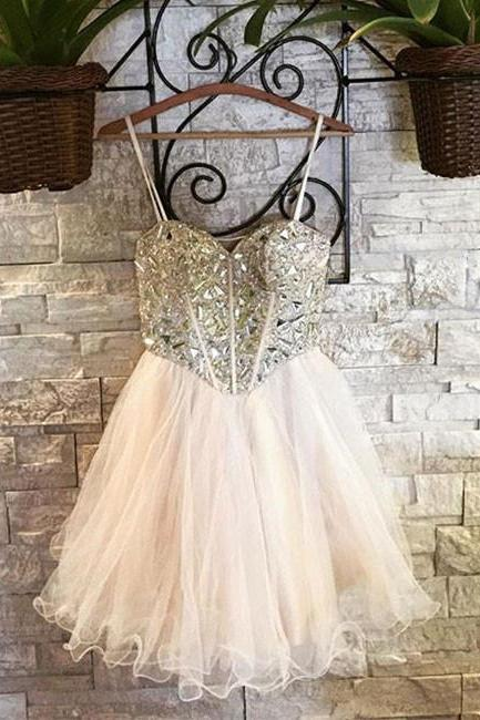 Cute Sweetheart Tulle Short Prom Dress, Homecoming Dress