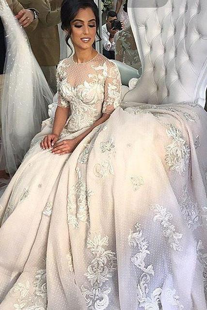 Lace Wedding Ball Gown