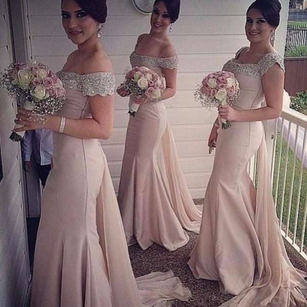 Off the Shoulder Mermaid Bridesmaid Dresses Long